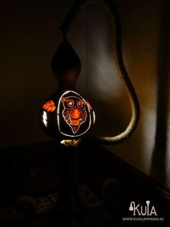 lampara de calabaza, buho