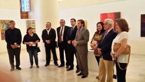 Inauguración por el Ayuntamiento de Huete, la Asociación Española de Pintores y Escultores, y la Fundación Florencio de la Fuente
