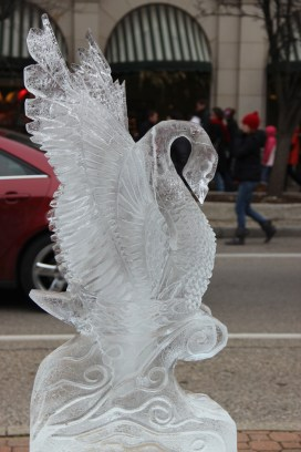 Intricate ice swan.