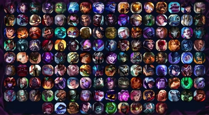 todos os campeões do legue of legends
