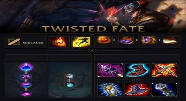 league of legends Build e runas para Twisted Fate