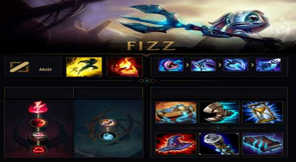 league of legends Build e runas para Fizz