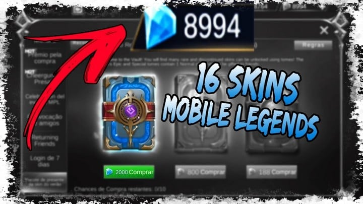 diamantes grátis no Mobile Legends