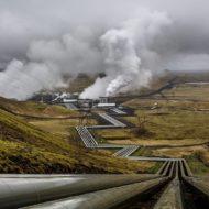 Hellisheidi Geothermal Power Plant Pipelines, Iceland