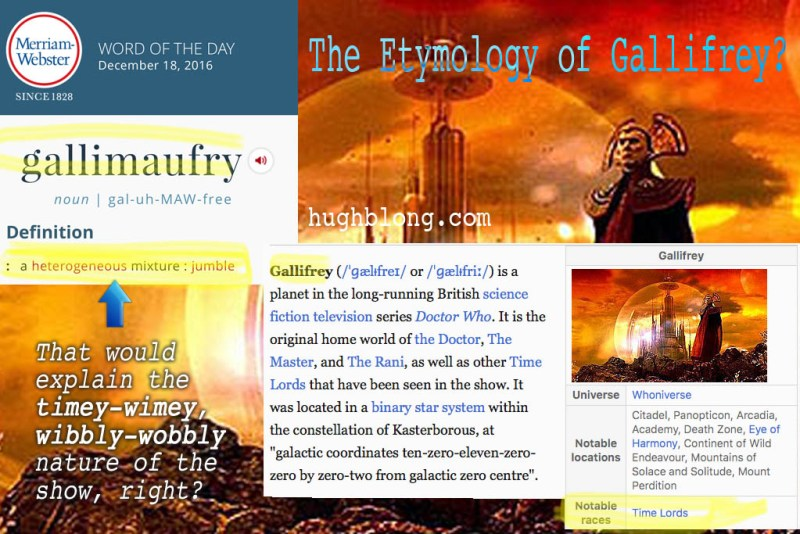 Etymology of Gallifrey?