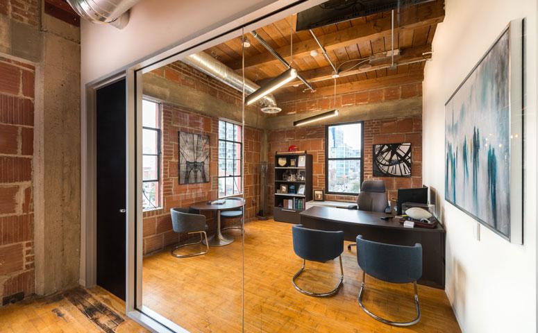 Spaces We Love Noonanlance S Industrial Chic Office