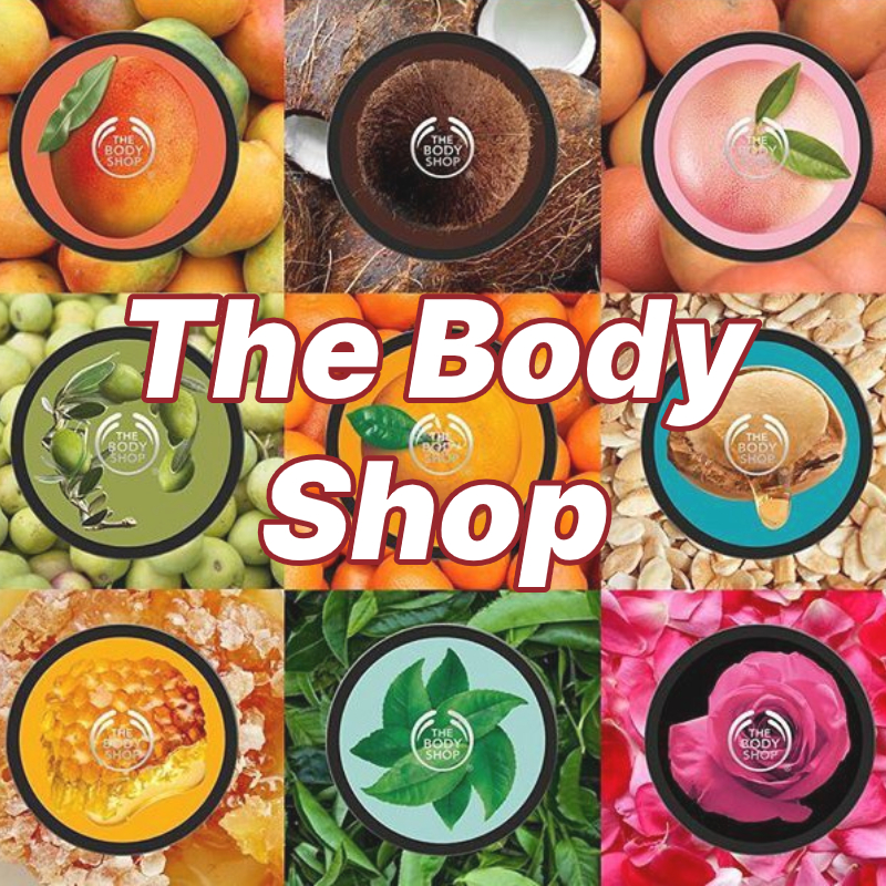 The Body Shop Body Butters with The Body Shop text overlayed