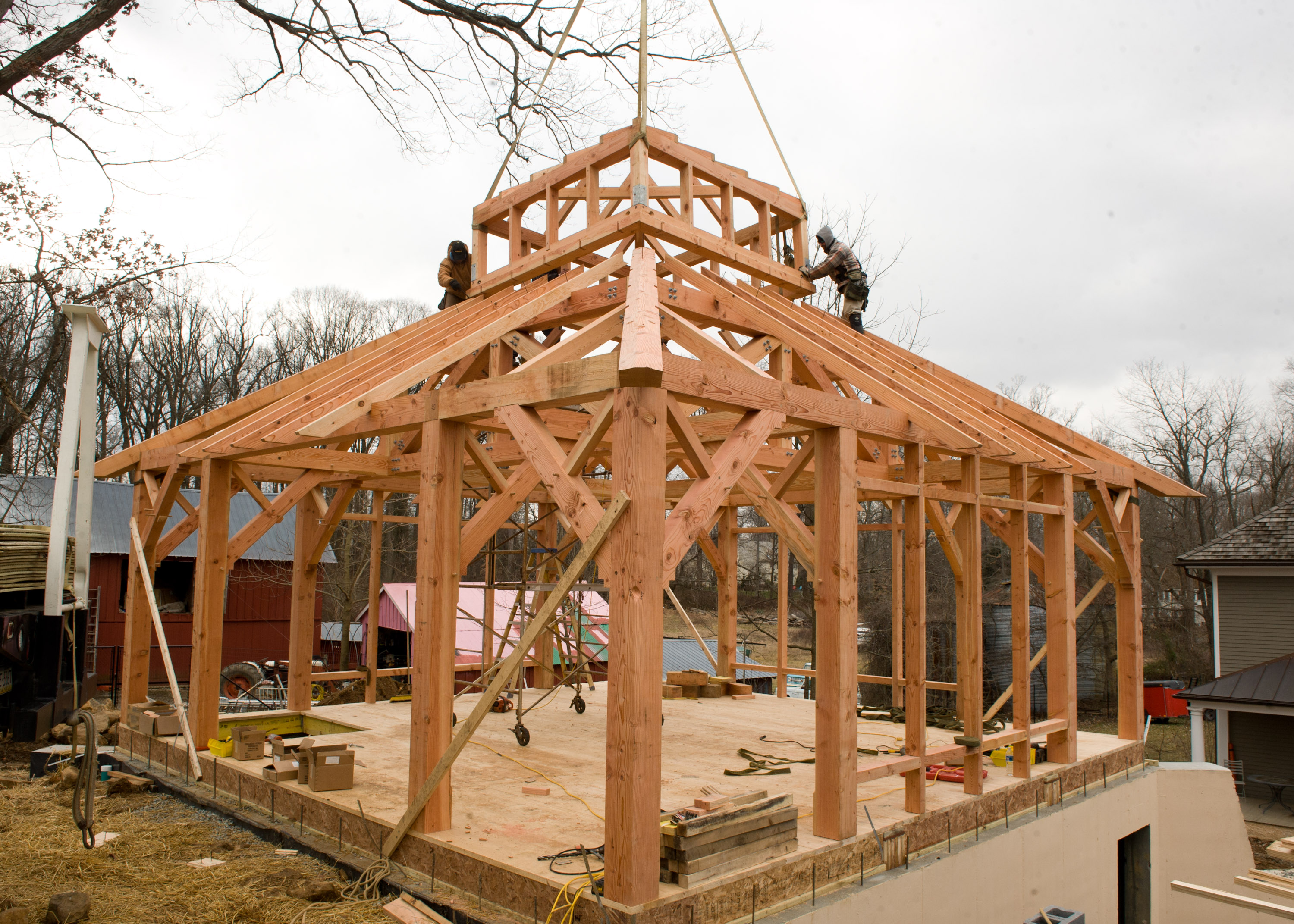 Timber frame garage studio in berwyn pa for Cupola for garage