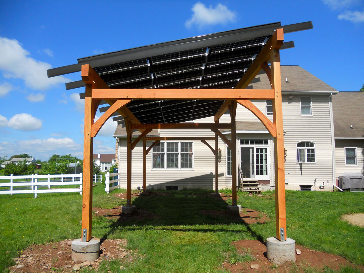 Solar Pergola on modern japanese house design