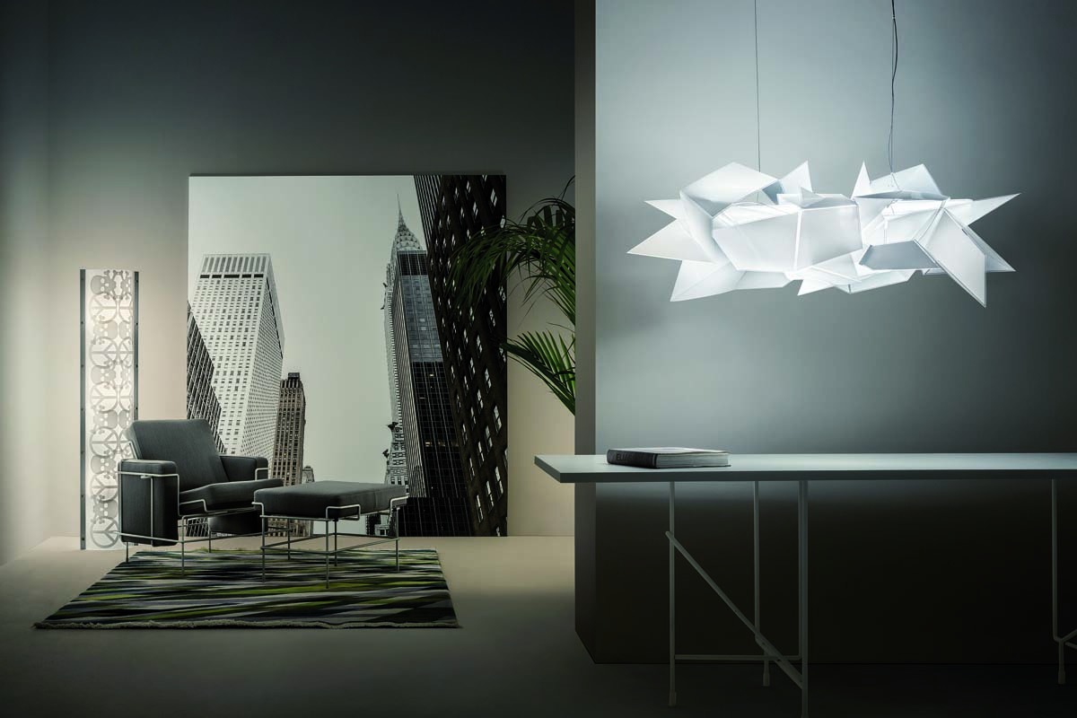 slamp distributed by hugo neumann presents a Daniel Libeskind Light Sculpture