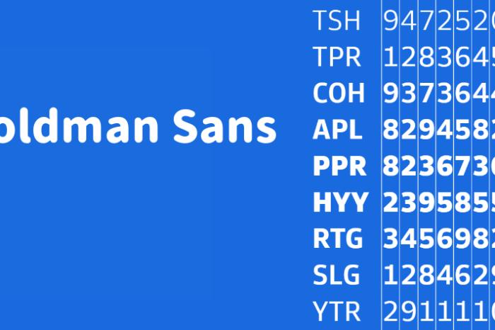 Goldman Sans 免費可商用英文字體,針對數字設計進行優化增加易讀性