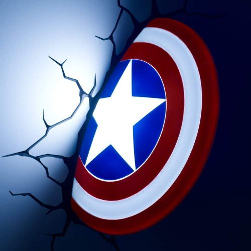 lampe 3d murale captain america