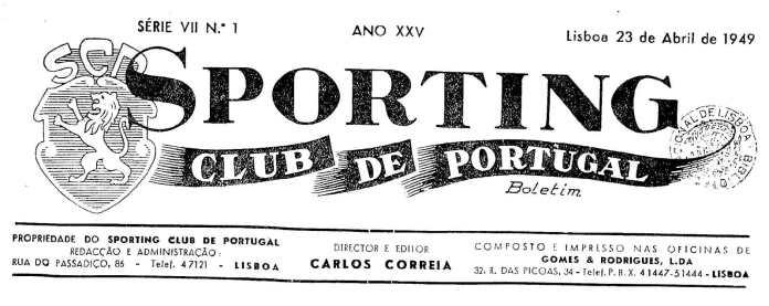 Jornal Sporting n.º 1