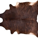 Cowhide Rug Brindle And Exotic Dark 44 Sqft A