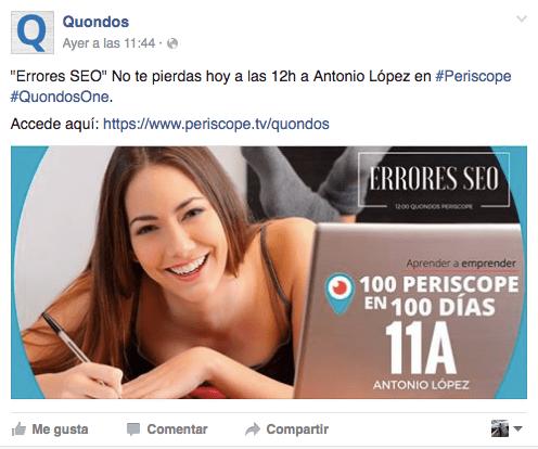 Publicacion Quondos