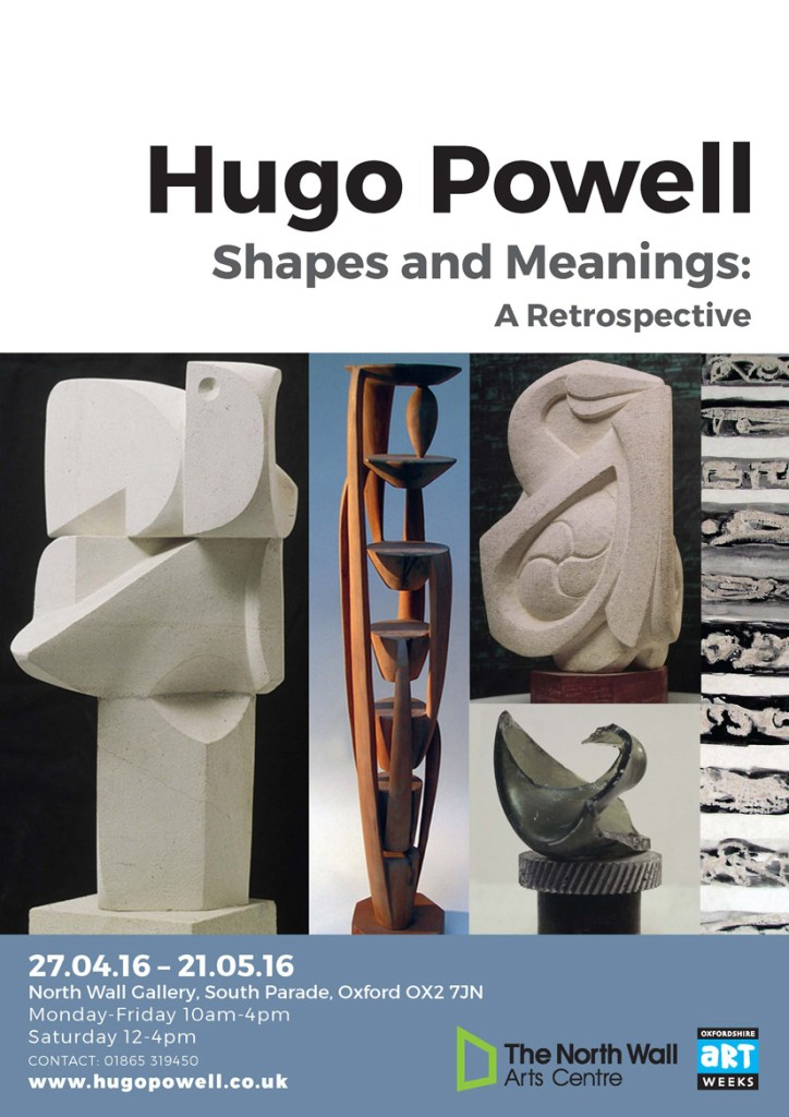 poster for Shapes and Meanings, a retrospective of the sculpture of Hugo Powell