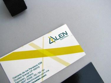 Diseño de aplicaciones en la nueva identidad gráfica de Alen Eléctrica
