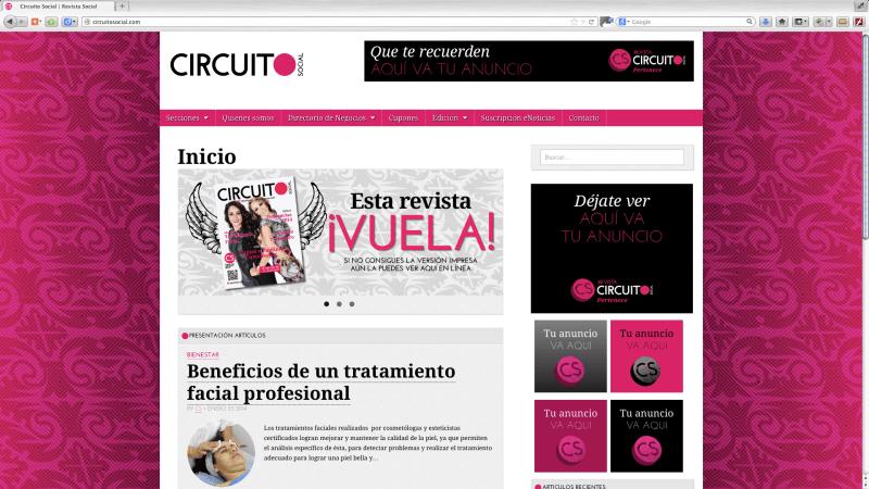 """Diseño, realización  y asesoría del concepto gráfico para una revista social, desde el aspecto editorial al web. Yurécuaro Michoacán.  <a href=""""http://www.circuitosocial.com"""">http://www.circuitosocial.com</a>"""