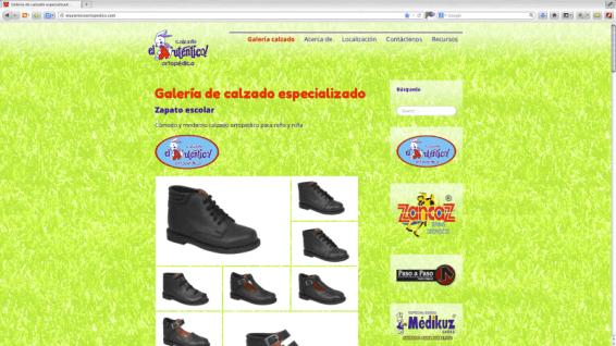 Diseño gráfico para el sitio web del Auténtico, fabricante y distribuidor de zapatos ortopédicos, ubicado en León Guanajuato. http://www.elautenticoortopedico.com