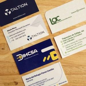 Diseño tarjeta de presentación
