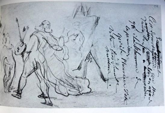 Cezanne Frenhofer sýnir málverk sitt