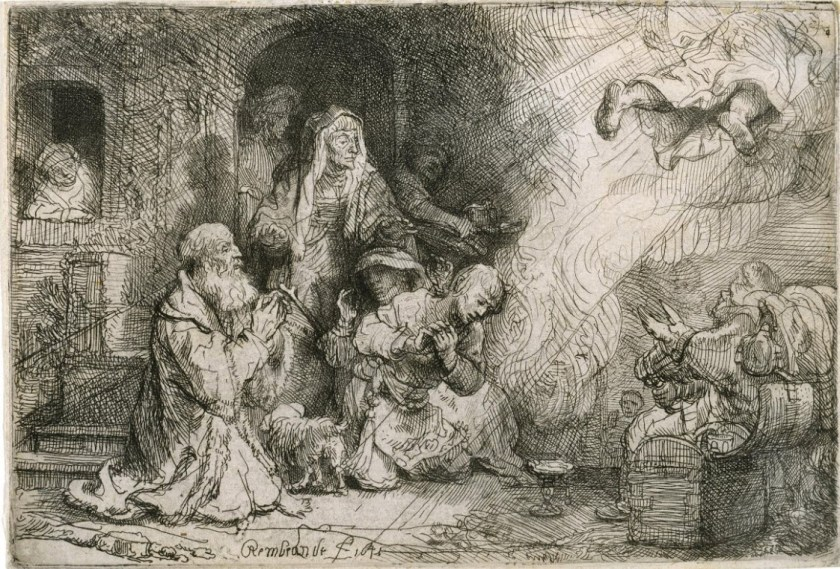 Rembrandt Engillinn yfirgefur Tobias 1641
