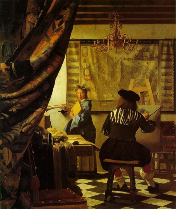 Vermeer art-painting