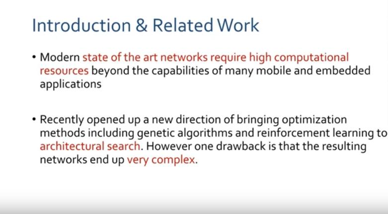 MobileNet V2 : Inverted Residuals and Linear Bottlenecks