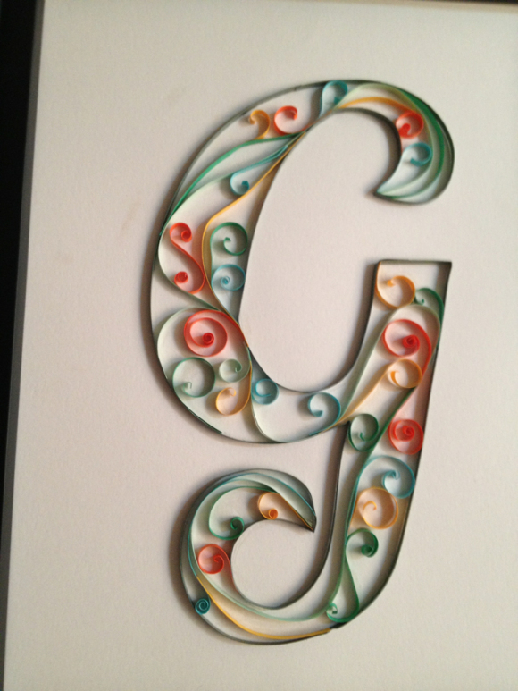 Quilled Monogram from Hugs are Fun