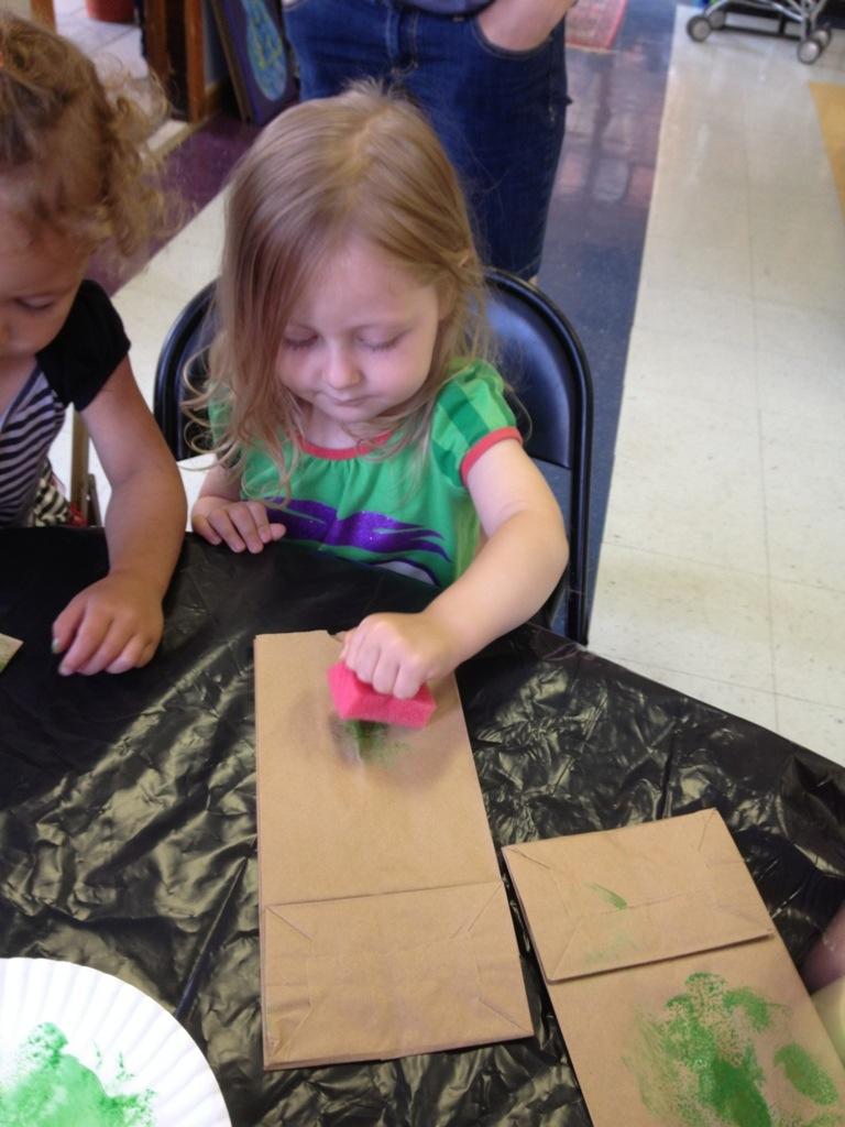 Paper Bag Frog Puppet from Hugs are Fun