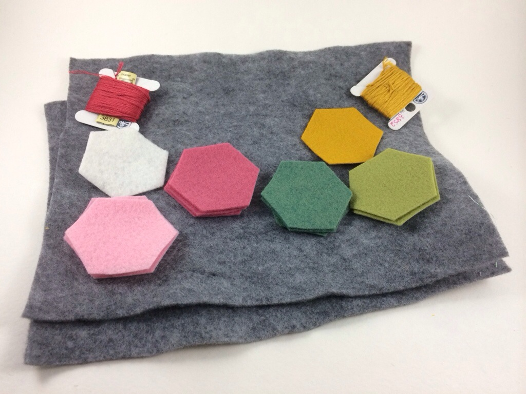 Try it Tuesday - Felt Hexagon Coaster at Hugs are Fun
