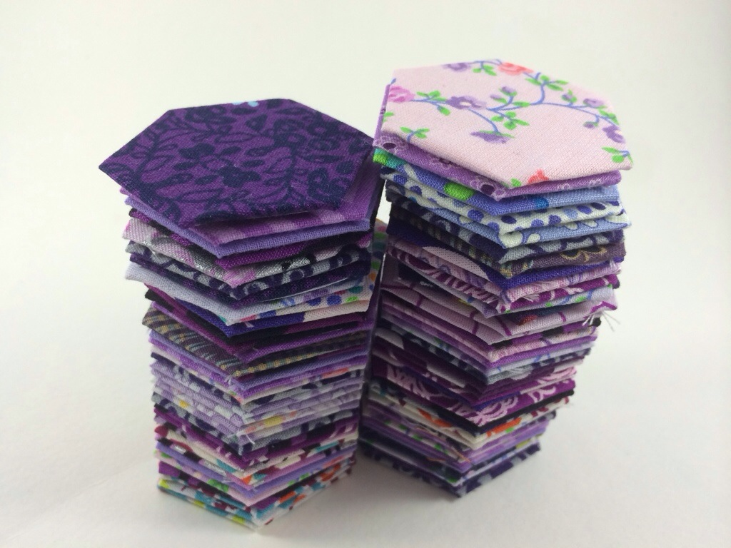 WIP Wednesday - English Paper Piecing Hexagons by Hugs are Fun