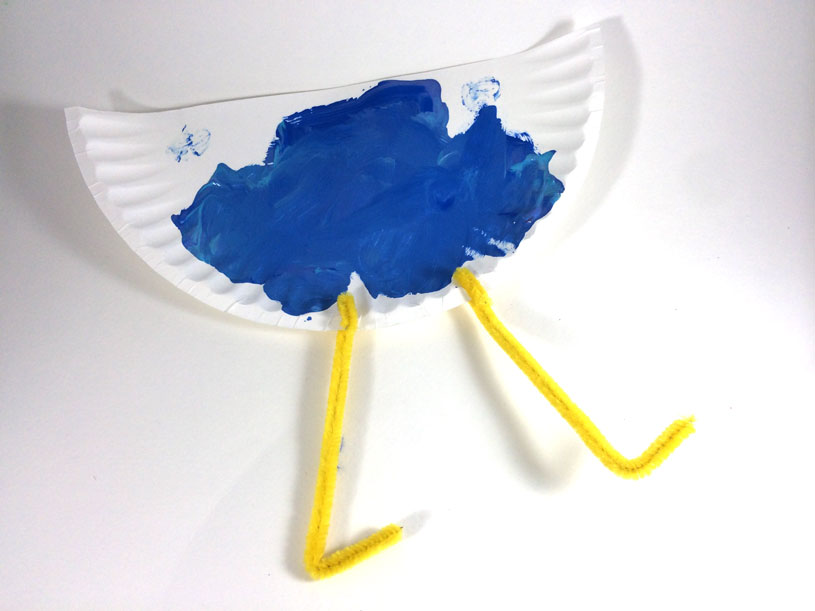Toddler Craft - Paper Plate Bird by Hugs are Fun