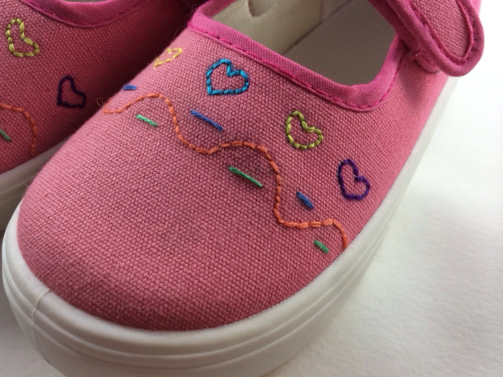 Embroidered Shoes by Hugs are Fun