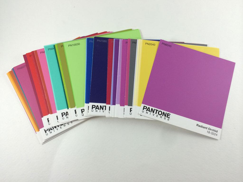 Pantone paint swatches