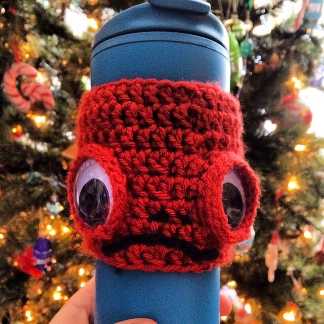 Admiral Ackbar Crocheted Coffee Sleeve by Hugs are Fun
