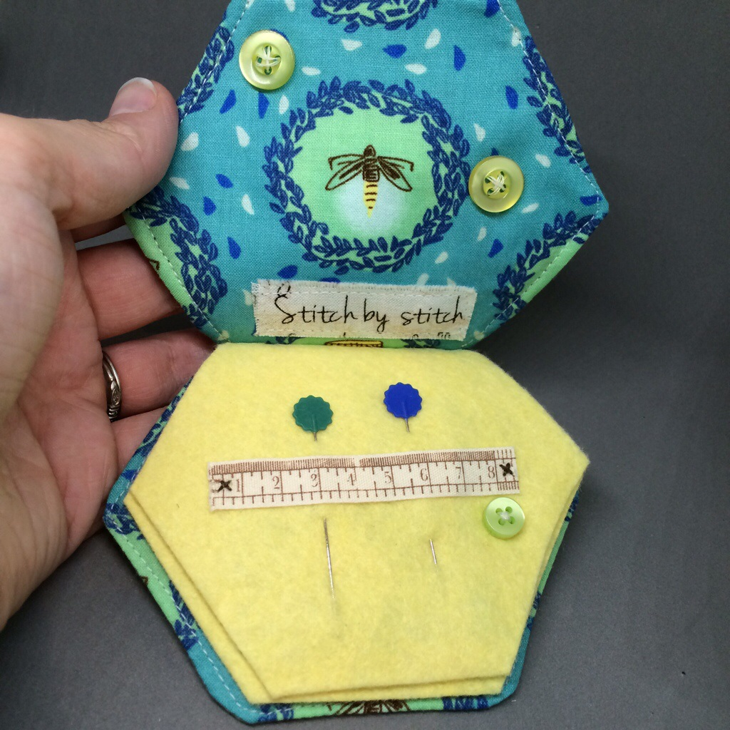 Hugs are Fun - A Hexagon Firefly Needlebook