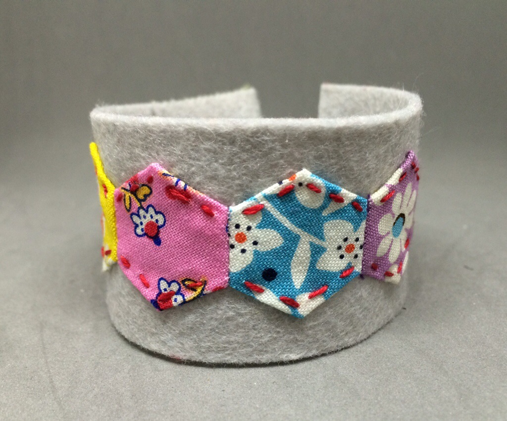 Hexagon Cuff Bracelet - 12 Hexies Blog Hop by Hugs are Fun