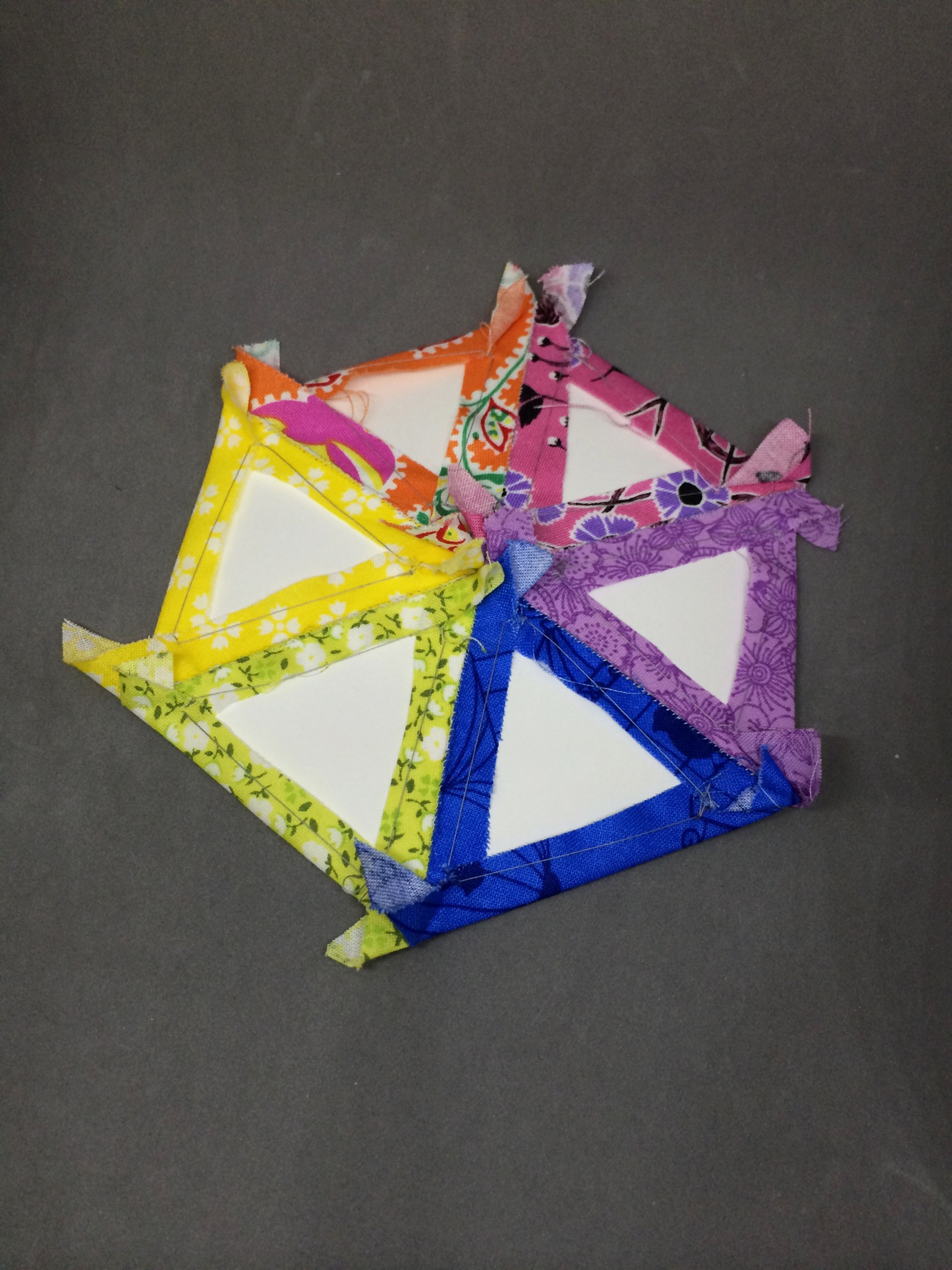 An English Paper Piecing Experiment by Hugs are Fun