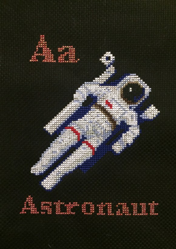 Astronaut Cross Stitch from Hugs are Fun