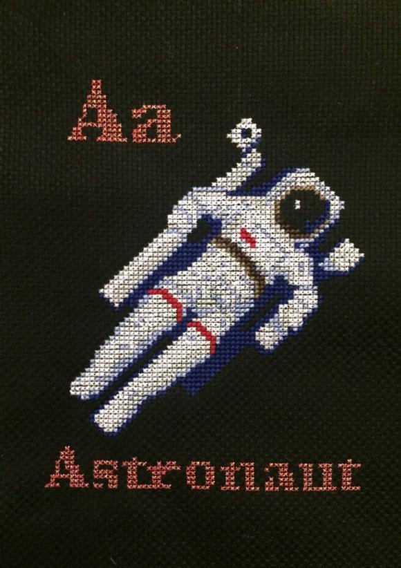 Astronaut Cross Stitch from Hugs are Fun