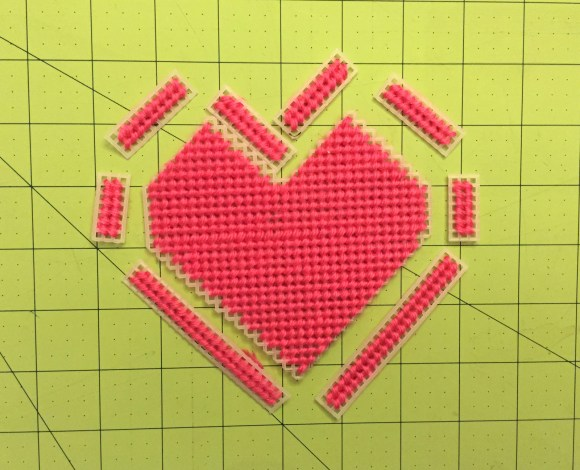 Plastic Canvas Valentine's Box Pattern & Tutorial from Hugs are Fun