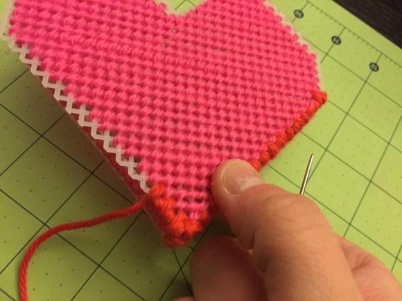 Plastic Canvas Valentine's Box Pattern & Tutorial from Hugs are Fun