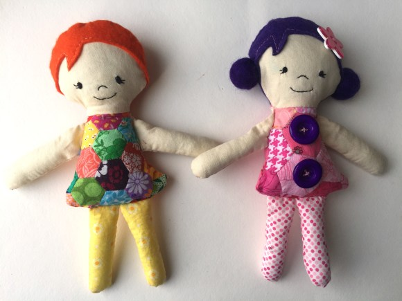 WIP Finish - Josephine Dolls from Hugs are Fun