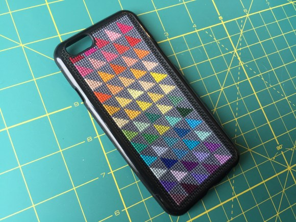 Another Rainbow Cross Stitch iPhone Case at Hugs are Fun