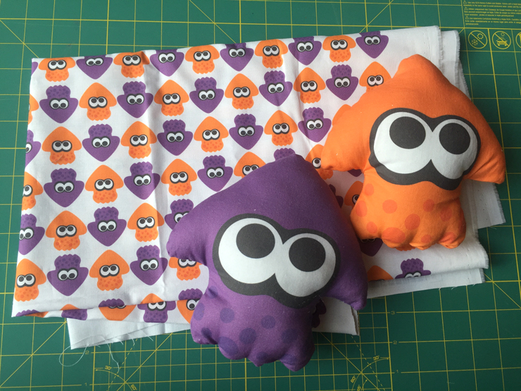 Splatoon! Custom Spoonflower Plushes