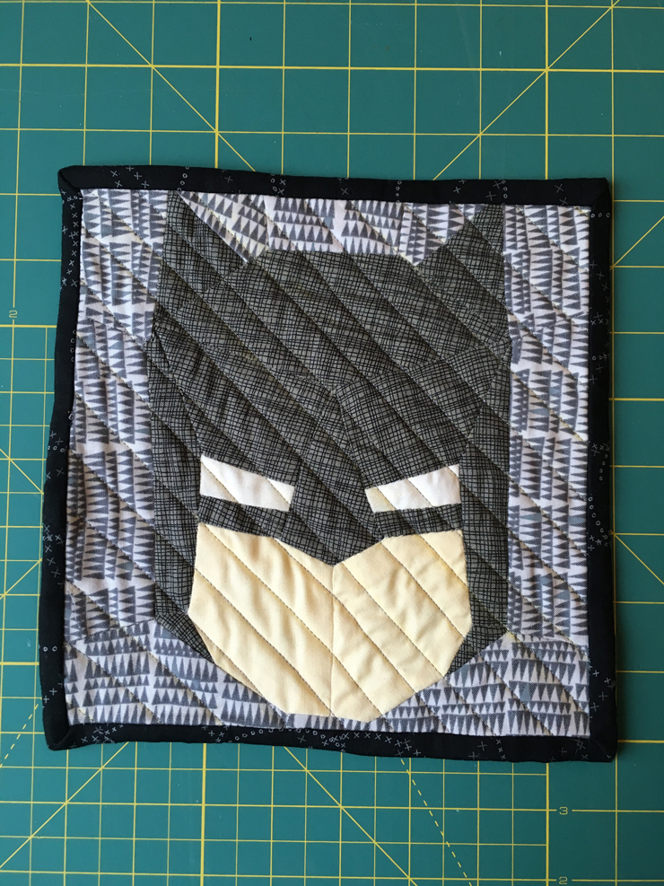Batman Mini Quilt from Hugs are Fun