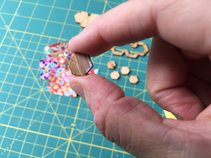 How To Assemble a Laser Cut Hexie Necklace from Hugs are Fun