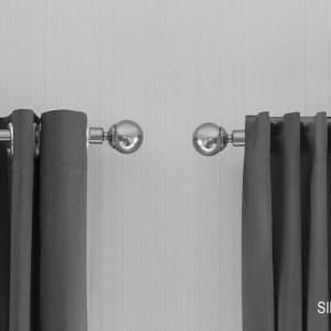 Lifa Living Gordijnen - Zilver grijs ringen