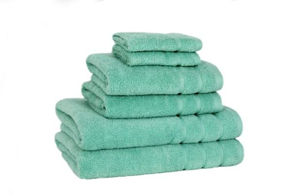 Serie Badlinnen Soft Cotton Twist Aquamarijn / Mintgroen